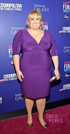 Rebel Wilson is perfect in plum at Cosmo's Super Fun Night! Photo By Rula Kanawati