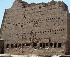 South propylaea of Temple of Amun, Karnak, Luxor, Thebes, Egypt, Egyptian civilization, New Kingdom, Dynasty XVIII