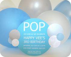 Bubble Birthday Party ~ Invitations