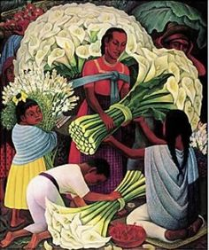 The Flower Vendor by Diego Rivera.  Always a favorite!
