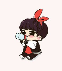 Jungkook Fanart, Bts Suga, Jungkook Cute, Kpop Fanart, Bts Chibi, Anime Chibi, Anime Manga, Cartoon Fan, Girl Cartoon