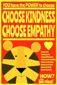 kindness 2  12x18 Art Print by Giraffes and Robots by GIRAFFESandROBOTS on Etsy
