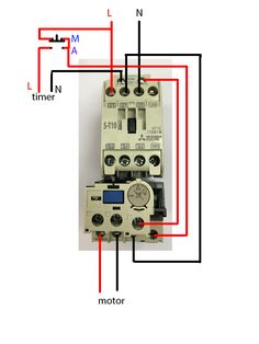 single phase motor contactor wiring diagram elec eng world w t rh pinterest com