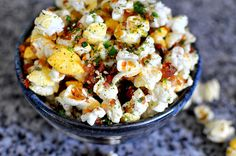 Hawaiian Furikake Kettle Corn | Hurricane Popcorn by cathydanh: Every fistful of buttery kernels brings a hit of sweetness from Corn Pops, sourness from dried pineapples, savoriness from bacon, spiciness from cayenne pepper and chili flakes, and a whole lot of umami-ness from furikake. #Popcorn #Hawaii