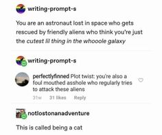 Writing-Prompt-S you are an astronaut lost in space who gets Stupid Funny, The Funny, Hilarious, Book Writing Tips, Writing Memes, Funny Quotes, Funny Memes, Game Quotes, Writing Promts