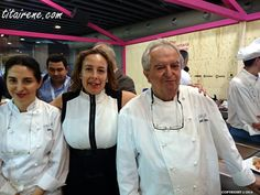 Chefs Juan Mari & Elena Arzak with Irene, April 2014