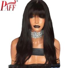 Cheap Human Hair Lace Wigs, Buy Directly from China Suppliers:BEEOS Glueless Lace Front Human Hair Wigs with Bangs Remy Hair Wavy Brazilian Wig Baby Hair Pre Plucked Bleached Knots Remy Hair Wigs, Human Hair Lace Wigs, Curly Wigs, Black Curly Wig, Black Wig, Black Hair Growth, Wholesale Human Hair, Wigs With Bangs, Full Bangs