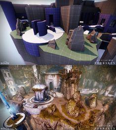 ArtStation - 'The Citadel' - Destiny Forsaken Crucible Map, Jeff Horal Game Environment, Environment Design, Game Assets, Blender 3d, Tabletop Rpg, Map Design, Video Game Art, Art Boards, Destiny