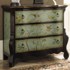 Lana Chest ... take old dresser or chest & decorate w/ fabric or designed paper