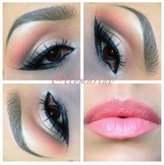 beautiful eye make up Pink Makeup, Love Makeup, Makeup Tips, Beauty Makeup, Makeup Looks, Hair Makeup, Hair Beauty, Makeup Tutorials, Makeup Ideas