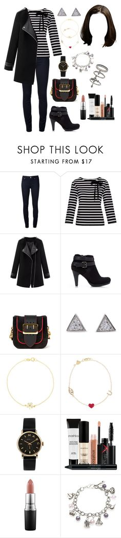 """Home (night/out/dinn/HANN)"" by ittgirl ❤ liked on Polyvore featuring Marc by Marc Jacobs, Wallis, Burberry, Jennifer Meyer Jewelry, Alison Lou, Smashbox, MAC Cosmetics, Charming Life and Miss Selfridge"
