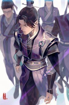 jiang cheng - sect leader of yunmeng jiang sect Fantasy Character Design, Character Concept, Character Inspiration, Character Art, Male Kimono, Japon Illustration, Film D'animation, Fan Art, The Grandmaster