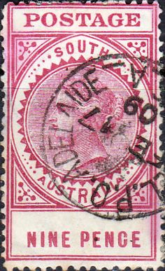 South Australia 1904 Long Tom SG 302 Used SG 300a Scott 154 Other Australian Stamps here