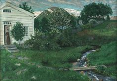 Nikolai Astrup is one of Norway's most renowned and beloved artists, known for his wild and lush landscapes and depictions of traditional life in his home country. Now, for the first time ever, his work. A4 Poster, Poster Prints, Romanticism Paintings, North Europe, American Poets, Modern Artists, Vintage Artwork, Four Seasons, Norway