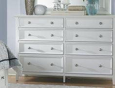 Abbott White 8dr Dresser Art Van Furniture