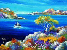 peinture tableau paysage tunisie - Recherche Google