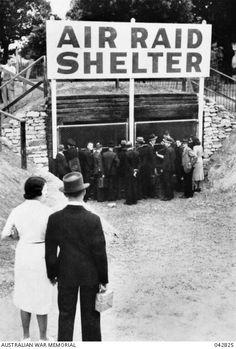 Air raid shelter in Sydney's Hyde Park during World War II