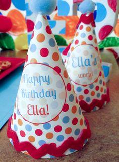 ELMO Birthday Party Hats