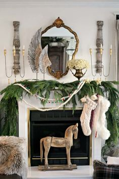 Baby It's Cold Outside: 25 Christmas Mantel Ideas For Winter Warmth