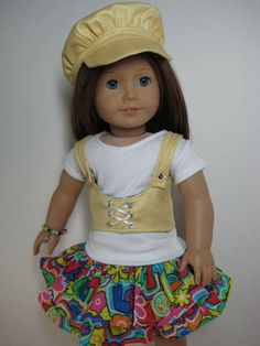 18 inch Doll Clothes American Girl Feel The Love Steampunk Corset and  Newsboy Cap Outfit