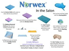 Norwex is for more than just your home! Have a Salon, or in home salon? Let Norwex help you clean it without harmful chemicals! www.andreakrechel.norwex.biz