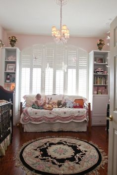 good idea for a crib with the side off