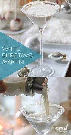 White Christmas Martini | holiday cocktail recipes