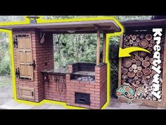 Budowa grilo-wędzarni - fotorelacja krok po kroku / How to Build BBQ Smoker DIY Diy Smoker, Homemade Smoker, Rocket Stove Design, Outdoor Smoker, Brick Bbq, Rustic Pergola, Built In Grill, Smokehouse, Outdoor Cooking