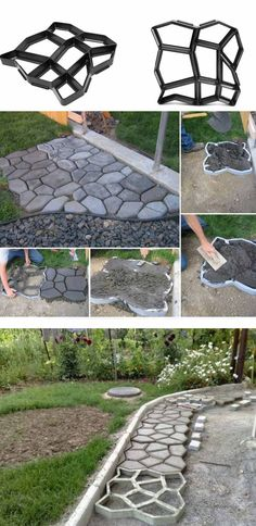 Garden Paving Concrete Mold by saundra Gartenpflaster Betonform # garden… - All For Garden Garden Paving, Mosaic Garden, Garden Paths, Garden Bridge, Garden Art, Concrete Walkway, Concrete Garden, Concrete Molds, Cement Patio