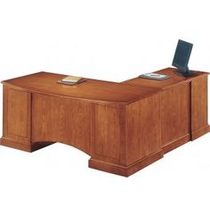 Belmont Left Computer L-Shaped Office Desk. Renovating, redecorating or updating your workspace? Hertz Furniture offers a variety of office furniture pieces that will fit your needs and budget. http://www.hertzfurniture.com/office-furniture.html
