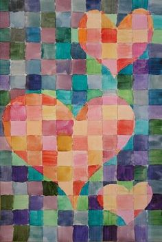 a faithful attempt warmcool watercolour grid