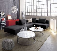 purchase pieces, not rent? lotus antrazit sectional pieces  | CB2