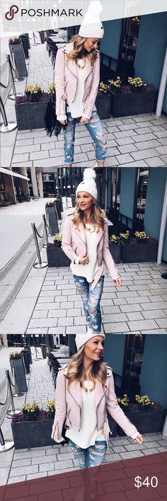Zara light pink suede jacket. Zara light pink suede jacket. Worn once. Like brand new. Paid $70 originally. Zara Jackets & Coats
