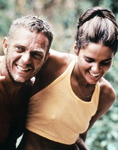 Steve McQueen & Ali MacGraw.  Steve was a tough guy to live with, from what I have read, but when these two were good, they were very, very good!