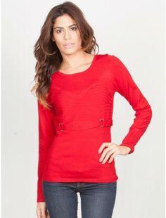 Yuka Paris Belted Knitted Sweater now @ Nimli