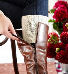 How to make knitted boot cuffs to personalise your winter wardrobe. These trendy accessories are made using a basic rib pattern to give them stretch.