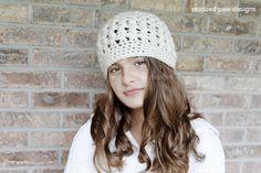 Crochet Beanie Pattern - Dreaming of Winter Beanie Crochet Pattern Rescued Paw Designs