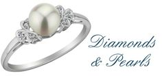 Golden Prism Diamond Wedding Rings and Pearl Rings