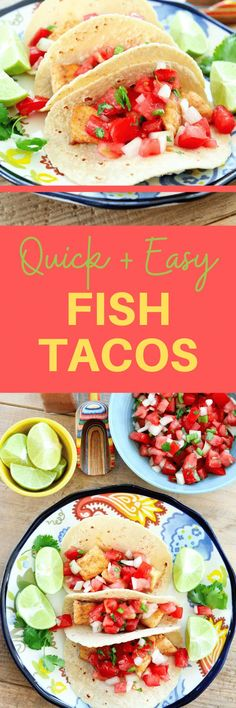 These are the BEST Fish Tacos! Such an easy and healthy recipe! Great dinner idea the whole family loves. Healthy Fish Tacos, Easy Fish Tacos, Real Food Recipes, Healthy Recipes, Clean Eating Recipes, Drink Recipes, Healthy Food, Quick Easy Meals, Easy Dinner Recipes