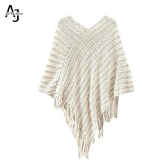 Find More Pullovers Information about AJ Tassel Shawl Pullover Sweater Women…
