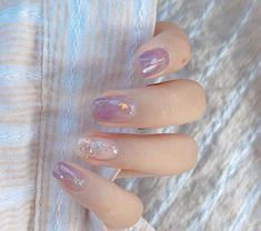 """53 Most Stunning and Trendy Short Nails - Page 31 of 53 - lovemxy Every girl needs to take care of herself. Because """"You only live once, but if you do it right, once is enough, and you won't… Asian Nails, Korean Nails, Soft Nails, Simple Nails, Clear Nail Designs, Nail Art Designs, Perfect Nails, Gorgeous Nails, Cute Acrylic Nails"""