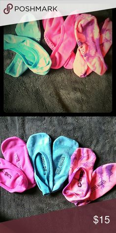 Steve Madden half socks They are fun colors and are great for vans, converse, Sperry's, and Tom's. One pair worn once all have been washed but still look like new. Steve Madden Accessories Hosiery & Socks