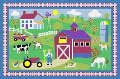 LA Rug Olive Kids Country Farm 19by29Inch Nylon Rug -- More info could be found at the image url.Note:It is affiliate link to Amazon.