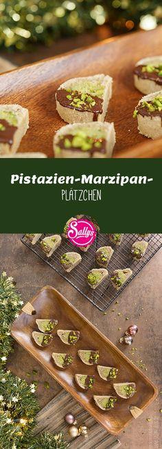 Diese Pistazien-Marzipan-Plätzchen sind der pure Genuss: außen ein mürber Teig und innen ein saftiger Pistazien-Marzipankern. Das i-Tüpfelchen ist der Überzug aus Zartbitterkuvertüre.