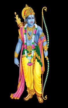 Jai Shri Ram Standing With Bow Arrow Beautiful Nice Transparent Hd