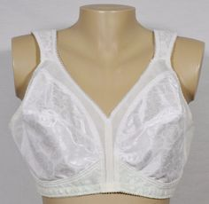 PLAYTEX 18 Hour White Ultimate Shoulder Comfort Wire Free Unlined Bra 42C 8693…