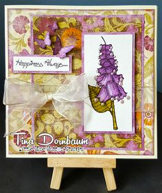 Card by Tina for Little Blue Button Stamps DT using, Bells.