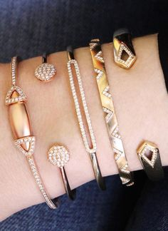 Sneak peak of this fire wrist stack, stay tuned! #diamonds #cuffs #bracelets…