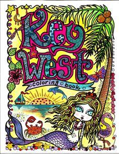 Coloring Book, Key West, Kunst, Sie werden Künstler Farbe Florida Adult Coloring Zen Doodle-Stil