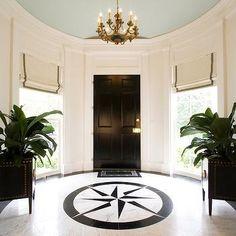 Entrances/foyers - Tall Foyer Ceiling - Design photos, ideas and inspiration. Amazing gallery of interior design and decorating ideas of entrances/foyers by elite interior designers - Page 5 Foyer Design, Entrance Design, House Design, Foyer Flooring, Granite Flooring, Flooring Tiles, Wooden Flooring, Marble Foyer, Foyers